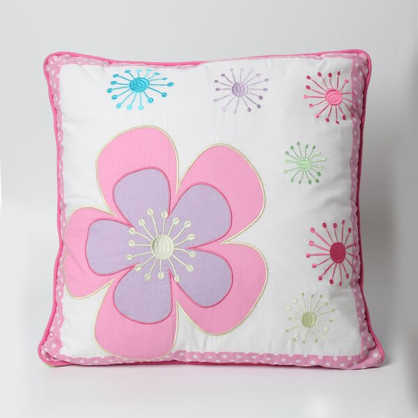 Blossom Floral 100% Cotton Throw Pillow by Cozy Line Home Fashion